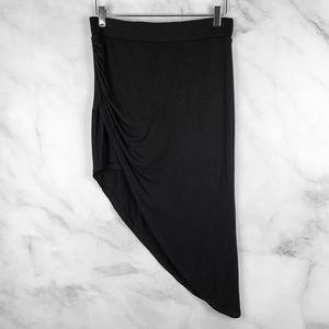 NWT Bebe Asymmetric Soft Knit Midi Skirt Boho M